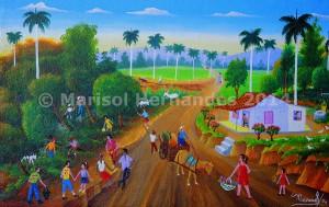 Marisol Hernandes: Campesinos en el atardecer, 2014