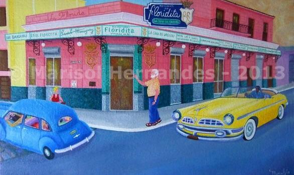 Marisol Hernandes - Hemingway en el Floridita, 2013